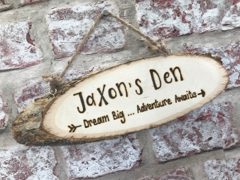 Den / Playhouse Personalised Plaque