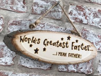 Dad/Father - Personalised Wood Slice Plaque