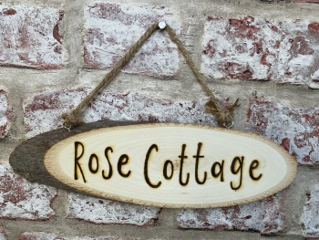 House Sign - Personalised Wood Slice Plaque