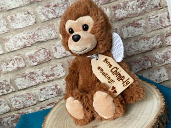 "Design Your Own - 12"" Monkey Plush With Engraved Tag"