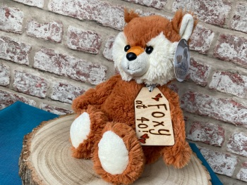 "Design Your Own - 12"" Fox Plush With Engraved Tag"