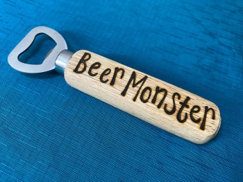 Personalised Wooden Bottle Opener - Beer Lover