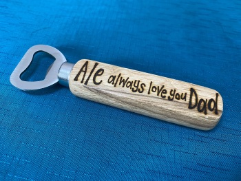 Personalised Wooden Beer Bottle Opener  - Dad