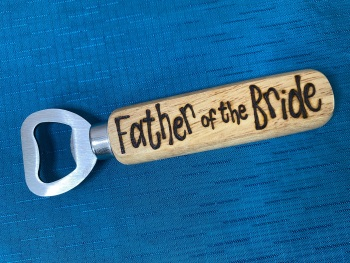 Personalised Wooden Bottle Opener - Wedding