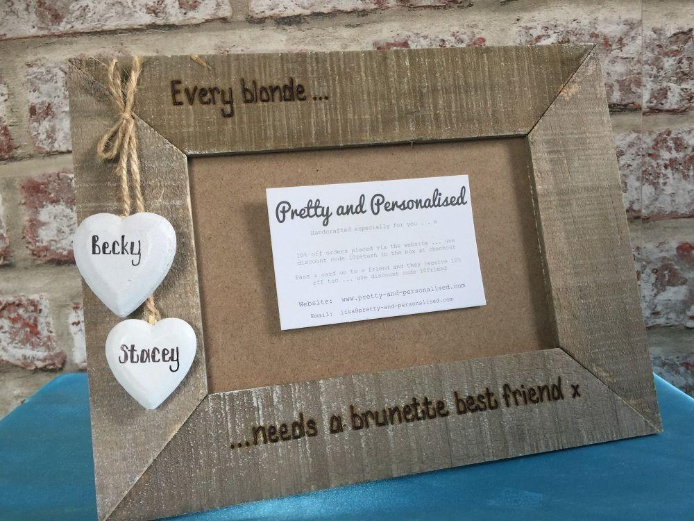 Personalised Driftwood Photo Frame