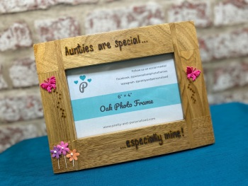 Aunties Are Special... - Personalised Solid Oak Wood Photo Frame
