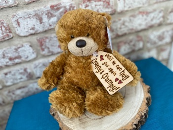 "Personalised 9"" Teddy Bear Plush - Until We Can Hug You Again"