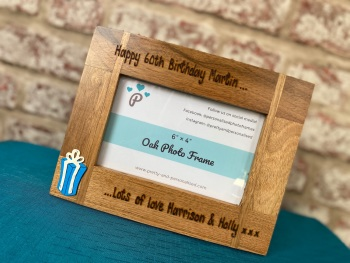 Birthday - Personalised Solid Oak Wood Photo Frame
