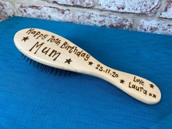 Happy Birthday - Personalised Wooden Hairbrush