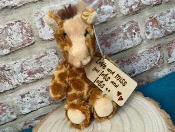 "Design Your Own - 8"" Giraffe Plush  With Engraved Tag"