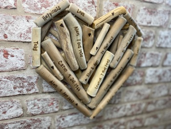 Design Your Own - Personalised Large Driftwood Heart Shaped Plaque