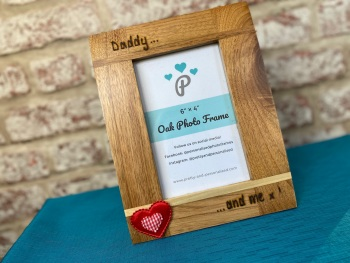 Daddy/Mommy And Me - Personalised Solid Oak Wood Photo Frame