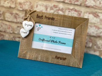 Best Friends Forever - Personalised Driftwood Photo Frame