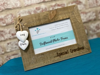 Special Grandma - Personalised Driftwood Photo Frame