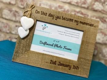 Two Mummies / Daddies / Same Sex Parents  - Personalised Driftwood Photo Frame