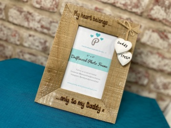 My Heart Belongs Only to Daddy - Personalised Driftwood Photo Frame