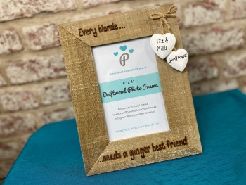 Every Blonde Needs A Ginger Best Friend - Personalised Driftwood Photo Frame