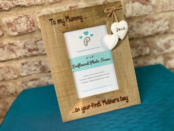 First Mother's Day - Personalised Driftwood Photo Frame