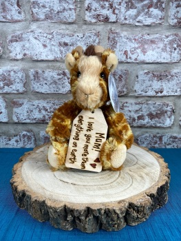 "Mum/Nan - Mothers Day/Birthday  - Personalised 8"" Giraffe"