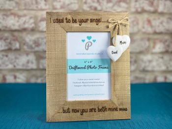 I Used To Be Your Angel - Personalised Driftwood Photo Frame