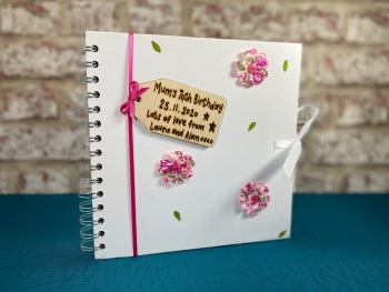 Design Your Own - Personalised White Photo Album / Guest Book
