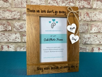 Those We Love Don't Go Away - Personalised Solid Oak Wood Photo Frame