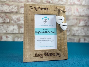 Happy Mother's Day - Personalised Driftwood Photo Frame