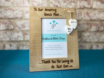 Stepmom / Stepdad - Personalised Driftwood Photo Frame