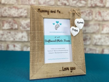 'Mummy and Me' - Personalised Driftwood Photo Frame