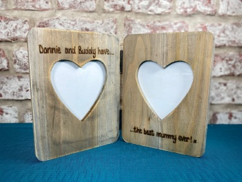 The Best Mummy/Daddy Ever  - Personalised Double Driftwood Photo Frame