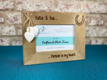 Horse / Forever In My Heart | In Memory | Personalised Driftwood Photo Frame
