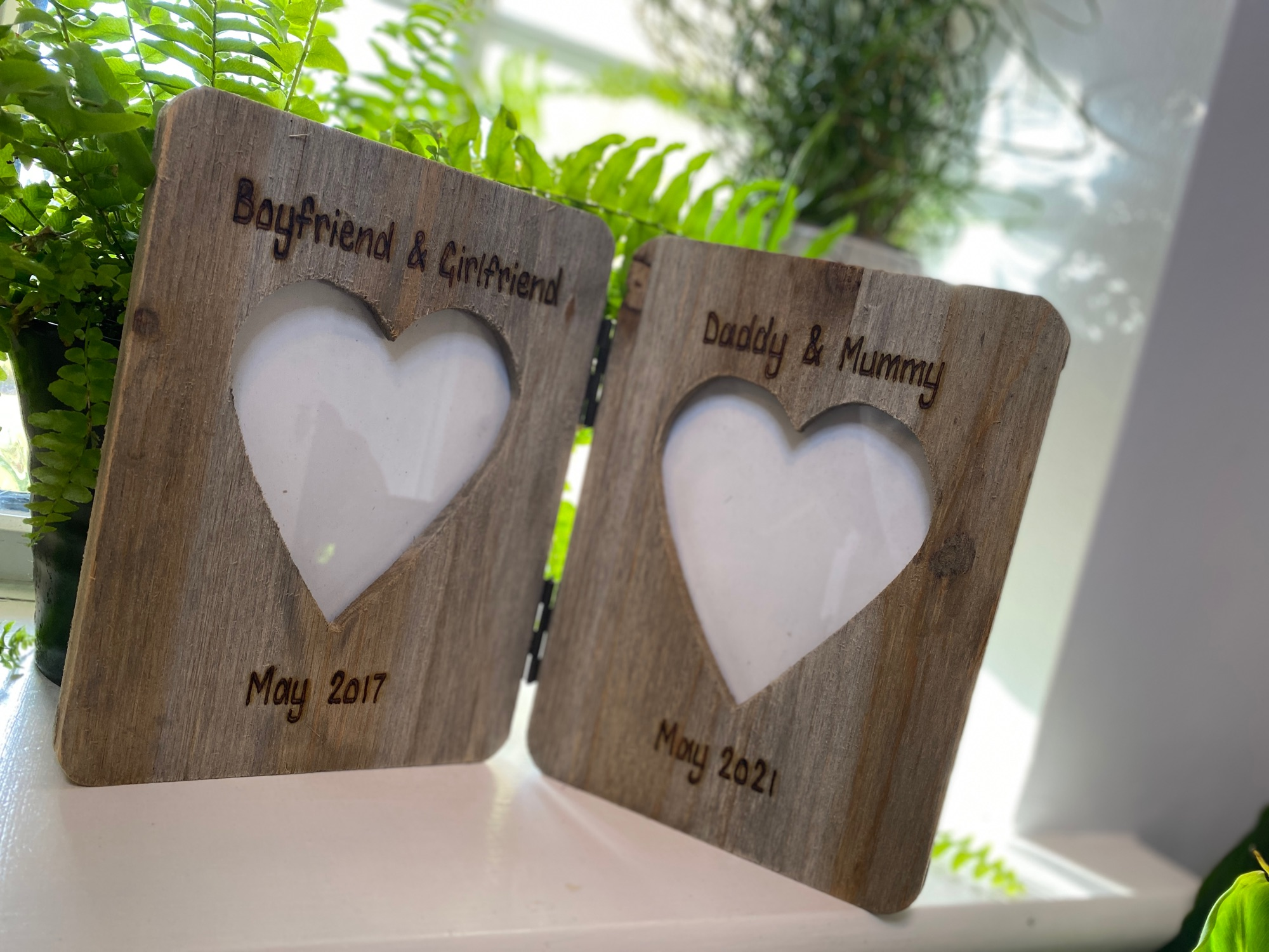 Personalised Double Driftwood Photo Frame