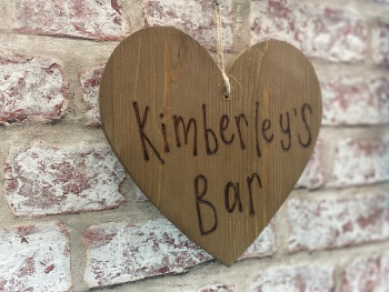 Design Your Own - Personalised Chunky Hanging Wooden Heart