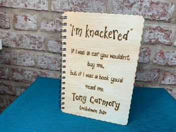 Design Your Own  - Personalised Wooden Notebook