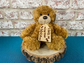 "Design Your Own - 9"" Teddy Bear Plush With Engraved Tag"