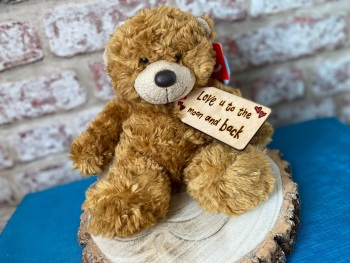 "Love You To The Moon And Back - Personalised 9"" Teddy Bear Plush"