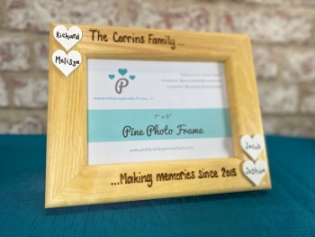 Making Memories - Personalised Pine Wood Photo Frame