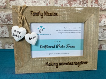 Making Memories Together  - Personalised Driftwood Photo Frame
