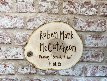 First Name Meaning Plaque - Personalised Wooden Log Slice Plaque
