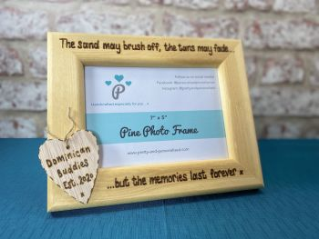 Holiday Memories - Personalised Solid Wood Photo Frame