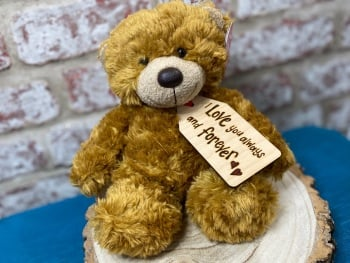 """I Love You Always And Forever  - Personalised 9"""" Teddy Bear Plush"""
