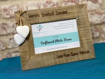 Design Your Own - Personalised Driftwood Photo Frame