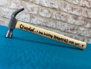 Grandad Building Memories - Personalised Hammer