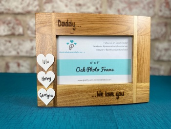 Daddy, We Love You - Personalised Solid Oak Wood Photo Frame