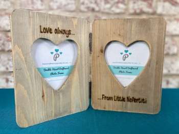 Design Your Own - Personalised Double Driftwood Photo Frame