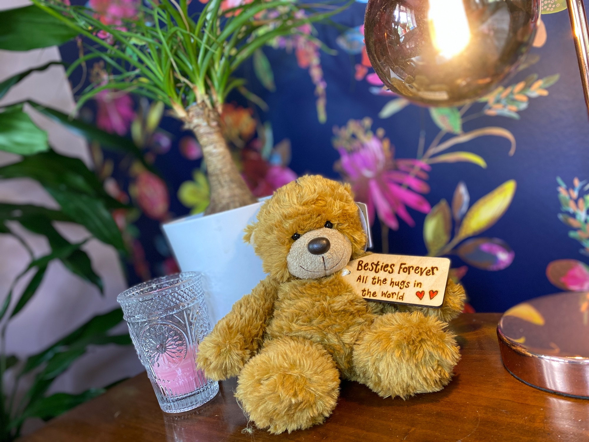 Personalised Bear With Wooden Tag
