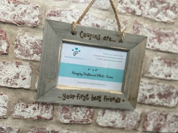 Cousins Best Friend - Personalised Hanging Driftwood Photo Frame