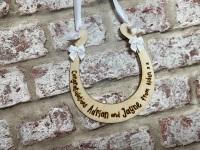 Wedding Horseshoe Gift -  Personalised