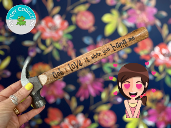 Bang Me   Personalised Banter Wooden Hammer