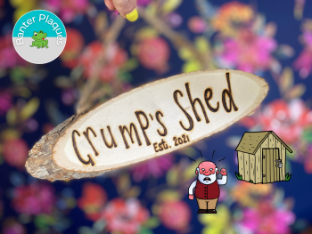 Grump's Shed   Banter Personalised Wooden Plaque